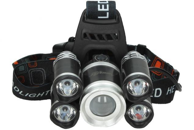 Foto 6 - Nabíjecí čelovka NK-H1905S s pěti světlomety