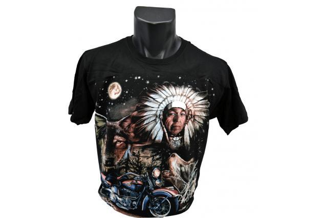 Foto 2 - Tričko Indián s motocyklem 001