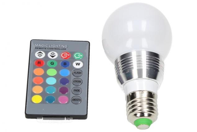 Foto 2 - LED RGB žárovka 3W na ovládání