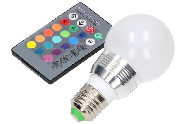 Foto 3 - LED RGB žárovka 3W na ovládání