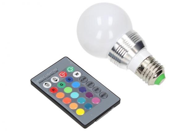 Foto 4 - LED RGB žárovka 3W na ovládání
