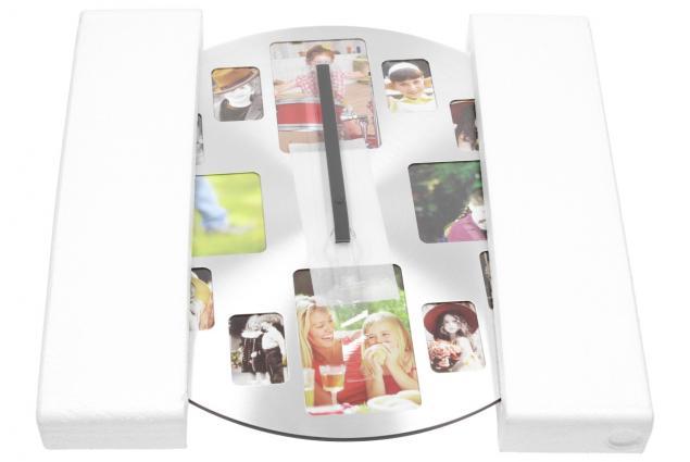 Foto 6 - Hliníkové nástěnné hodiny s fotorámečky