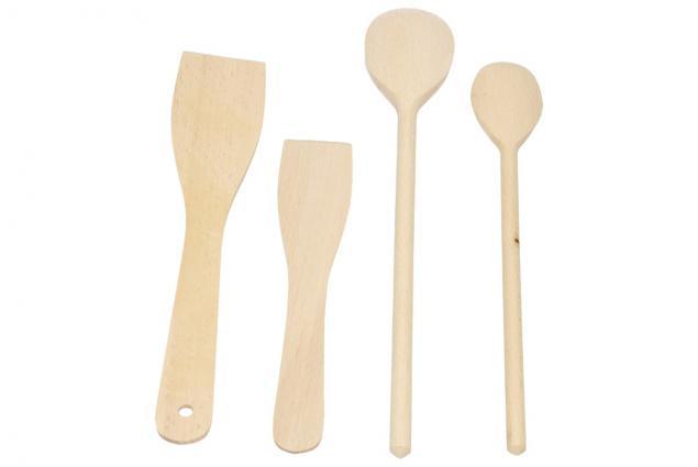 Foto 2 - Sada dřevěného náčiní 4 kusy