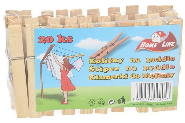Foto 6 - Kolíček dřevěný 20 kusů Klasik