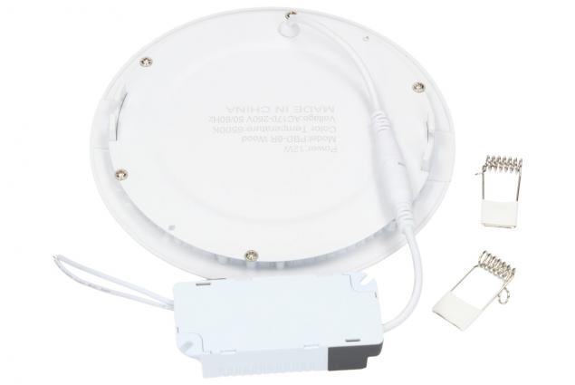 Foto 3 - LED stropní panel zápustný 12W kulatý