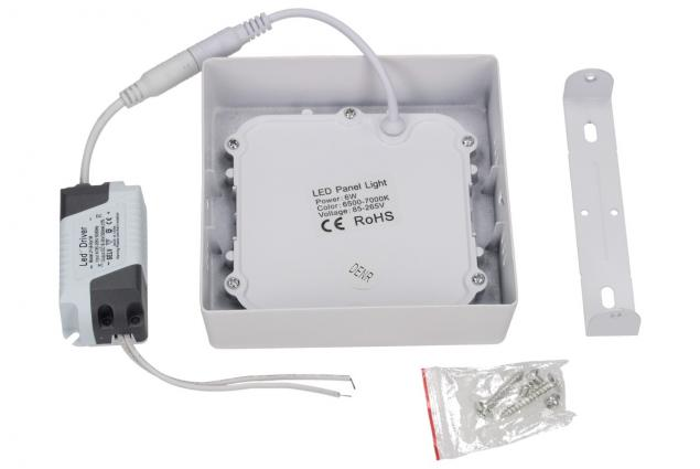 Foto 3 - LED stropní panel 6W nezápustný čtvercový
