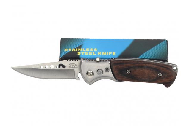 Foto 4 - Vystřelovací nůž kapesní s dřevěnou střenkou 15 cm