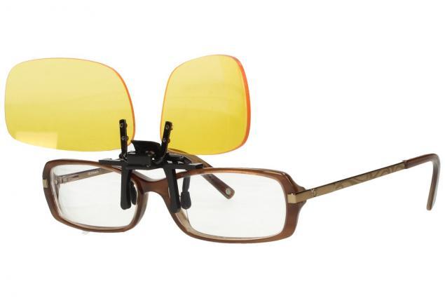 Foto 11 - Polarizační klip na brýle žlutý do tmy a mlhy