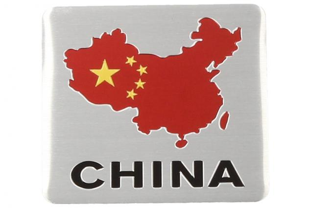 Foto 3 - Kovová samolepka CHINA 6cm x 5,5cm