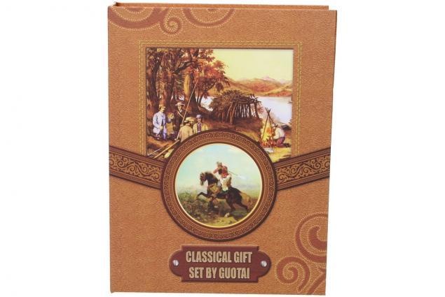 Foto 8 - Dárková sada placatka s jelenem design Kniha 200 ml