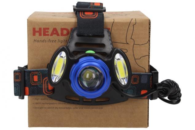 Foto 4 - Nabíjecí výkonná čelovka HEADLIGHT se třemi světlomety