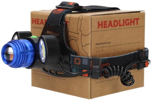 Foto 5 - Nabíjecí výkonná čelovka HEADLIGHT se třemi světlomety