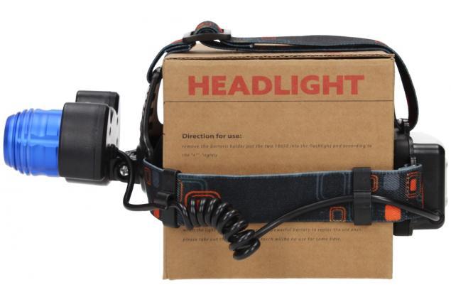 Foto 6 - Nabíjecí výkonná čelovka HEADLIGHT se třemi světlomety