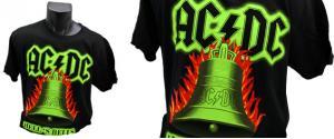 Tričko AC/DC HELLS BELLS 001 zelené