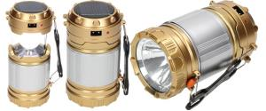 Lampa pro kemping Profi + solární nabíječka 2v1