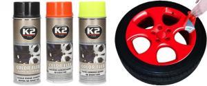 K2 COLOR FLEX 400 ml - gumová barva na disky kol