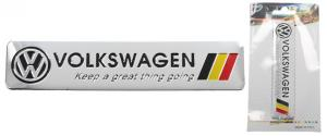 Kovová samolepka Volkswagen 12cm x 2,5cm