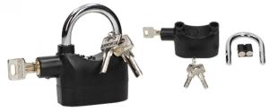 Bezpečnostní visací zámek s alarmem