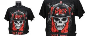 Tričko lebka v helmě Slayer