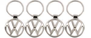 Klíčenka - znak Volkswagen Chrom 3,5 cm