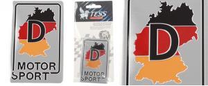 Motor sport samolepka kovová