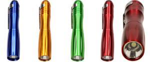 LED malá kovová baterka 9 cm