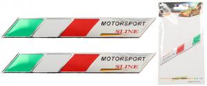Kovová samolepka Itálie Motorsport sline 9 x 1,5 cm