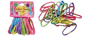 Sada různobarevných gumiček do vlasů 24ks