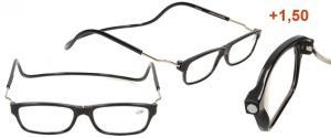 Dioptrické brýle s magnetem černé +1,50