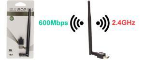 Bezdrátový wifi adaptér 802.11N s USB portem 2.0