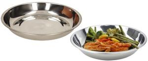 Nerezový talíř hluboký 22 cm