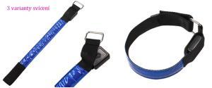 LED svítící obojek pro psy modrý 32 cm