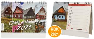 Kalendář 2021 Chaty a chalupy 22 x 18 cm
