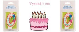Svíčka na dort- číslo 0