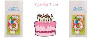 Svíčka na dort- číslo 6