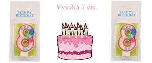 Svíčka na dort- číslo 8