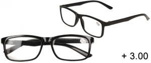 Dioptrické brýle +3,00 černé