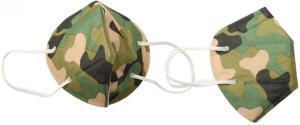 Respirátor FFP2/KN95, respirační rouška maskáčová khaki