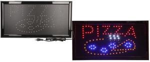 Barevná světelná LED tabule PIZZA