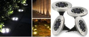 Sada kruhových solárních světel Disk Lights