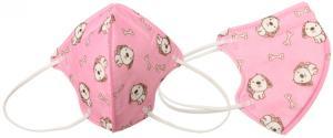 Respirátor FFP2/KN95, respirační rouška dětská růžová
