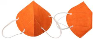 Respirátor FFP2/KN95, respirační rouška oranžová