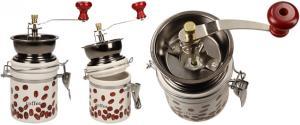 Ruční mlýnek na kávu kulatý keramický
