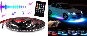 LED neonové pásky pod auto Music