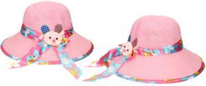 Dětský klobouk s králíkem světle růžový