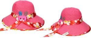 Dětský klobouk s králíkem tmavě růžový