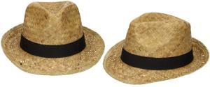 Slaměný kovbojský klobouk s černým páskem nejmenší