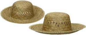 Slaměný klobouk kulatý