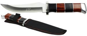Hobby lovecký nůž se zahnutým ostří 2barevný