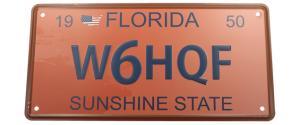 Cedule značka USA 30x15,5 cm FLORIDA SUNSHINE STATE
